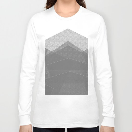 White Winter Skiing Mountain Climbing Long Sleeve T-shirt