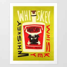Whiskey Buffalo Art Print
