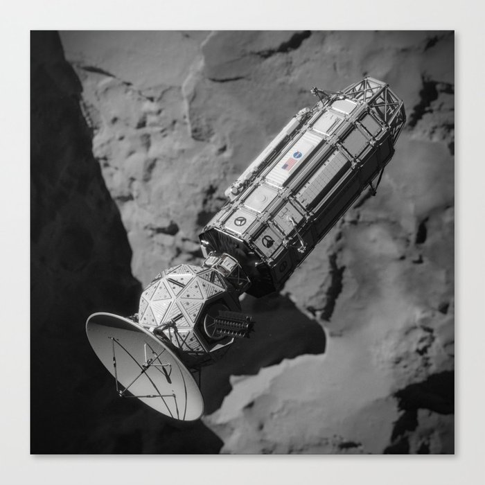 NASA JPL Comet Hitchhiker Canvas Print