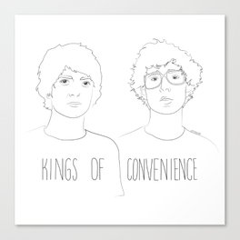 Kings of Convenience Canvas Print