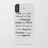 bread iPhone & iPod Cases featuring Bread by Genevieve Moye