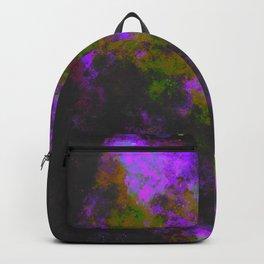 """Cellular Migration"" (Yellow/Purple) Digital Painting // Fine Art Print Backpack"