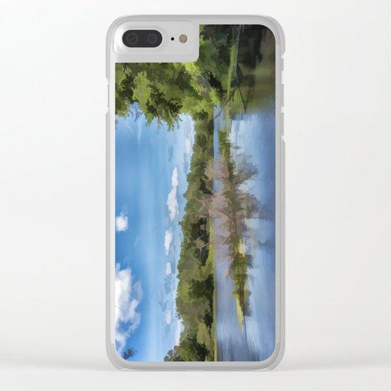 River Landscape Clear iPhone Case