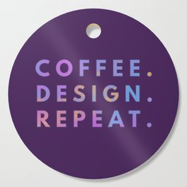Coffee Design Repeat Cutting Board