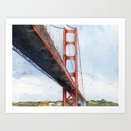 Golden Gate Bridge Art Print