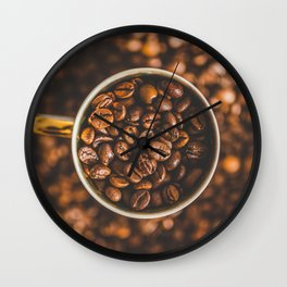 COFFEE - BEANS - PHOTOGRAPHY Wall Clock