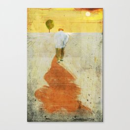 back of old man Canvas Print