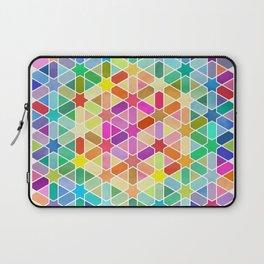 Rainbow Honeycomb with Stars Laptop Sleeve