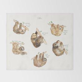 Sloths Throw Blanket