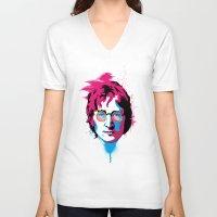 john V-neck T-shirts featuring john by Shane CatneyArt