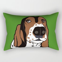 Basset Hound Rectangular Pillow