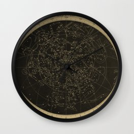 Vintage Astronomy Constellations Star Map Wall Clock