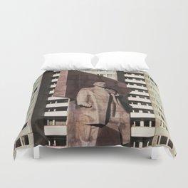 East berlin Lenin Statue Duvet Cover