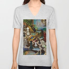 Try to Defeat Me Unisex V-Neck