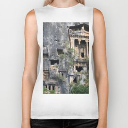 Rock Tombs Photograph Fethiye Biker Tank