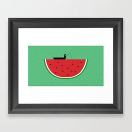 Watermelon Fisher Framed Art Print
