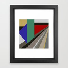 TRAVEL TO NOWHERE ABSTRACT Framed Art Print