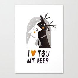 I love you my deer Canvas Print