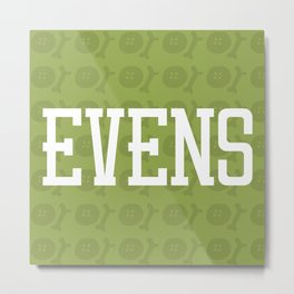 Evens (pattern 2) Metal Print