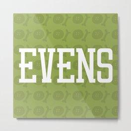 Evens (pattern 2) Metal Print