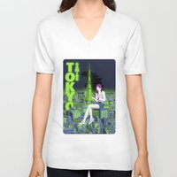 gaming V-neck T-shirts featuring Tokyo Gaming by monocefalus