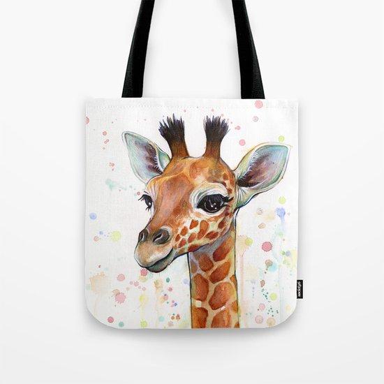 Giraffe Baby Watercolor by olechka