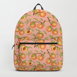 Practice What You Peach - Peaches on Pink Backpack
