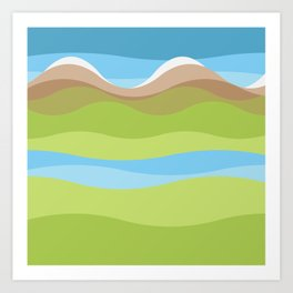 Mountainscape Art Print