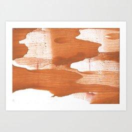 Peru hand-drawn wash drawing texture Art Print