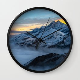 Alps Sunrise Wall Clock