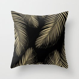 Palm Leaves - Gold Cali Vibes #4 #tropical #decor #art #society6 Throw Pillow