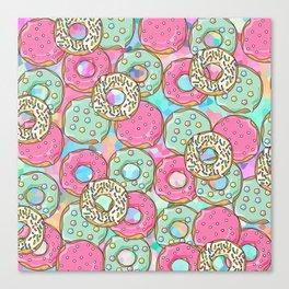 Sweet Donuts Cookies Canvas Print