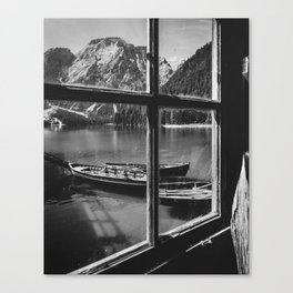 Through the Window (Black and White) Canvas Print