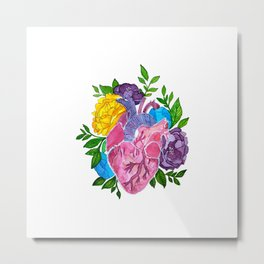 Heart,flowers and colors Metal Print