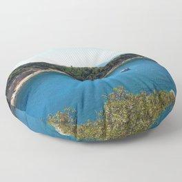 Rhodes Greece Anthony Quinn Bay Floor Pillow