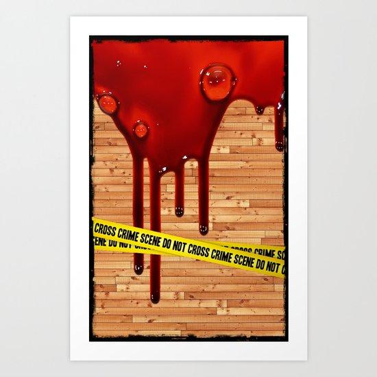 Crime Scene - for iphone Art Print