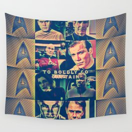 To Boldly Go Captain Wall Tapestry