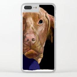 Hunter the Bashful Vizsla Clear iPhone Case
