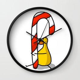 Candy Cane Hugs | Veronica Nagorny  Wall Clock