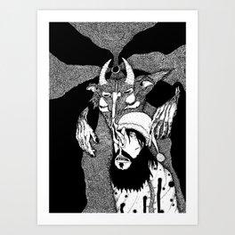 Dreaming With an Alp Art Print