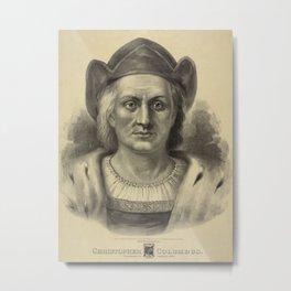 Vintage Christopher Columbus Portrait (1892) Metal Print