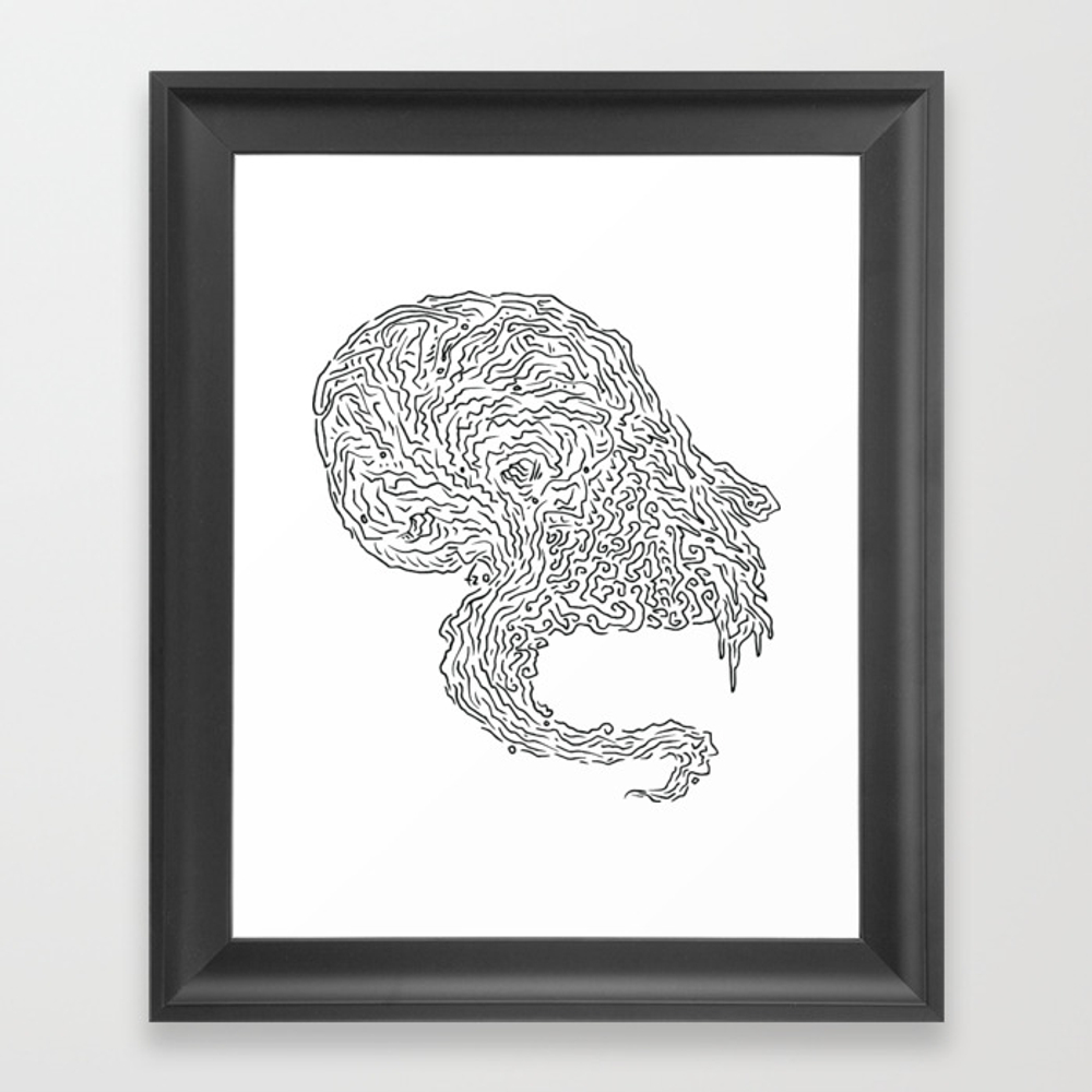 Frequency Framed Art Print by Tzart FRM8874452