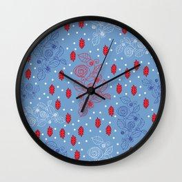 Winter Iceflowers Wall Clock