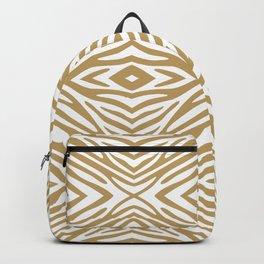 Fallow Neutral Zebra Backpack