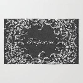 Temperance Flower and Leaf Chalkboard Rug
