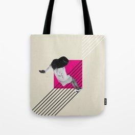 Geometric Falling Girl Graphic Tote Bag