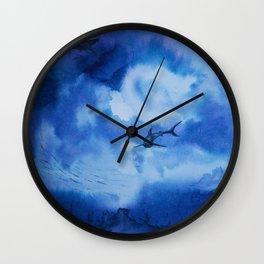 Ink sharks Wall Clock