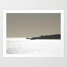 Silver harbor Art Print