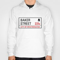 221b Hoodies featuring 221B Baker Street by TheWonderlander
