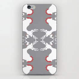 Cervidae Deer Pattern with Heart iPhone Skin